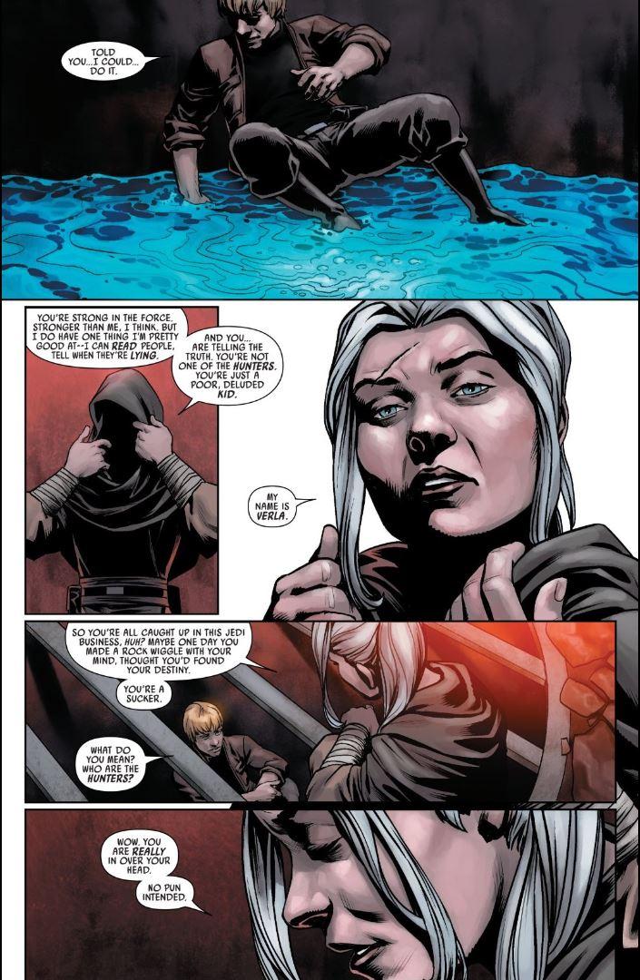 Star Wars (2020) #5 Verla reveals herself to Luke