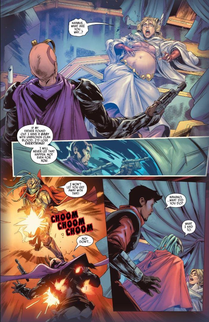Star Wars Bounty Hunters #4 Lash kills Khamus