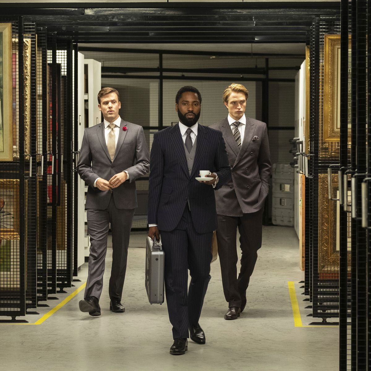 Tenet with John David Washington and Robert Pattinson