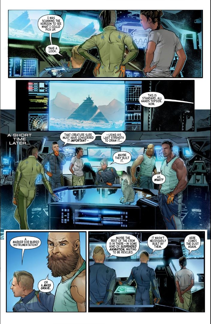 Alien The Original Screenplay issue 2 find the pyramid