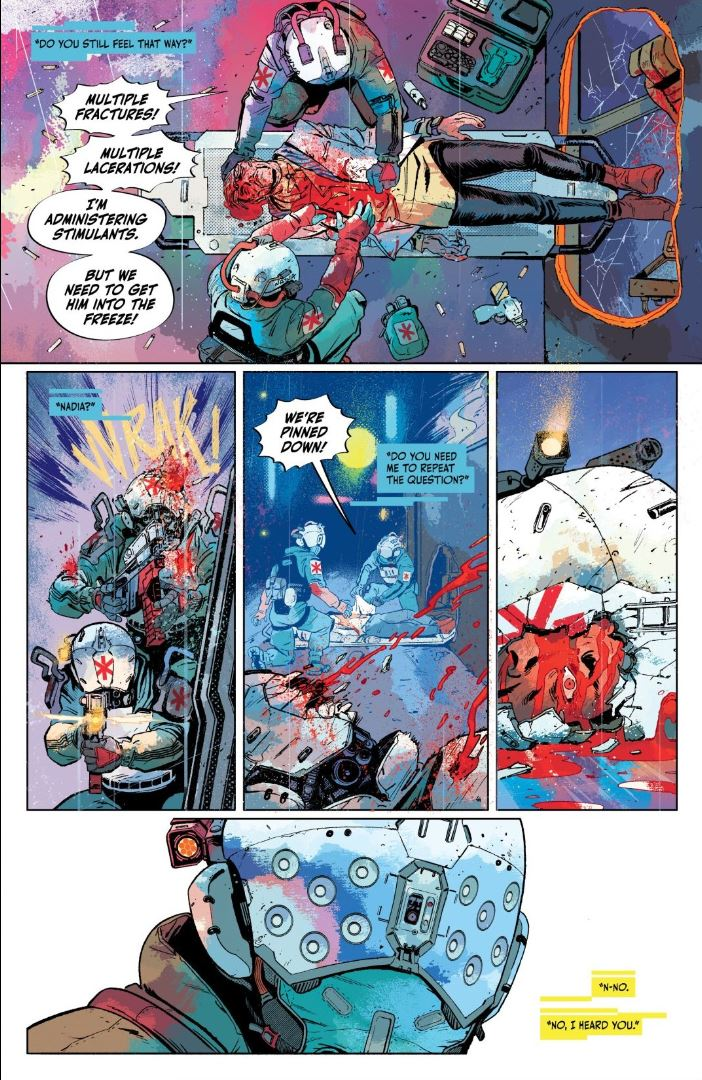 Cyberpunk 2077 Trauma Team #1 Nadia reminisces about the team
