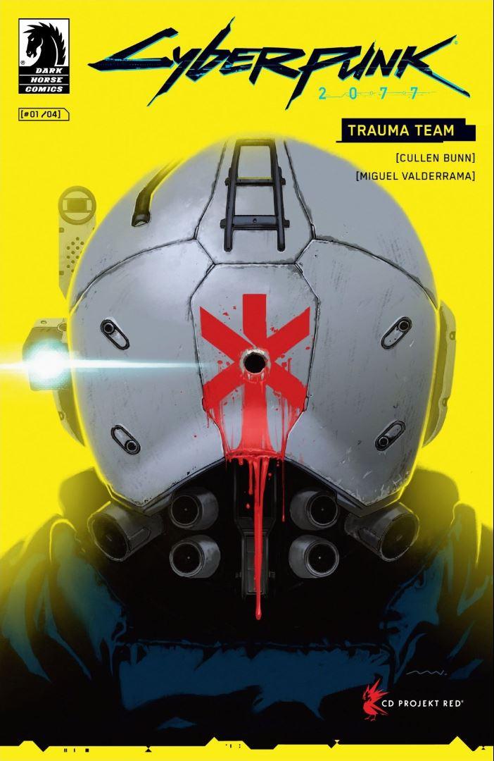 Cyberpunk 2077 Trauma Team #1 cover by Miguel Valderrama