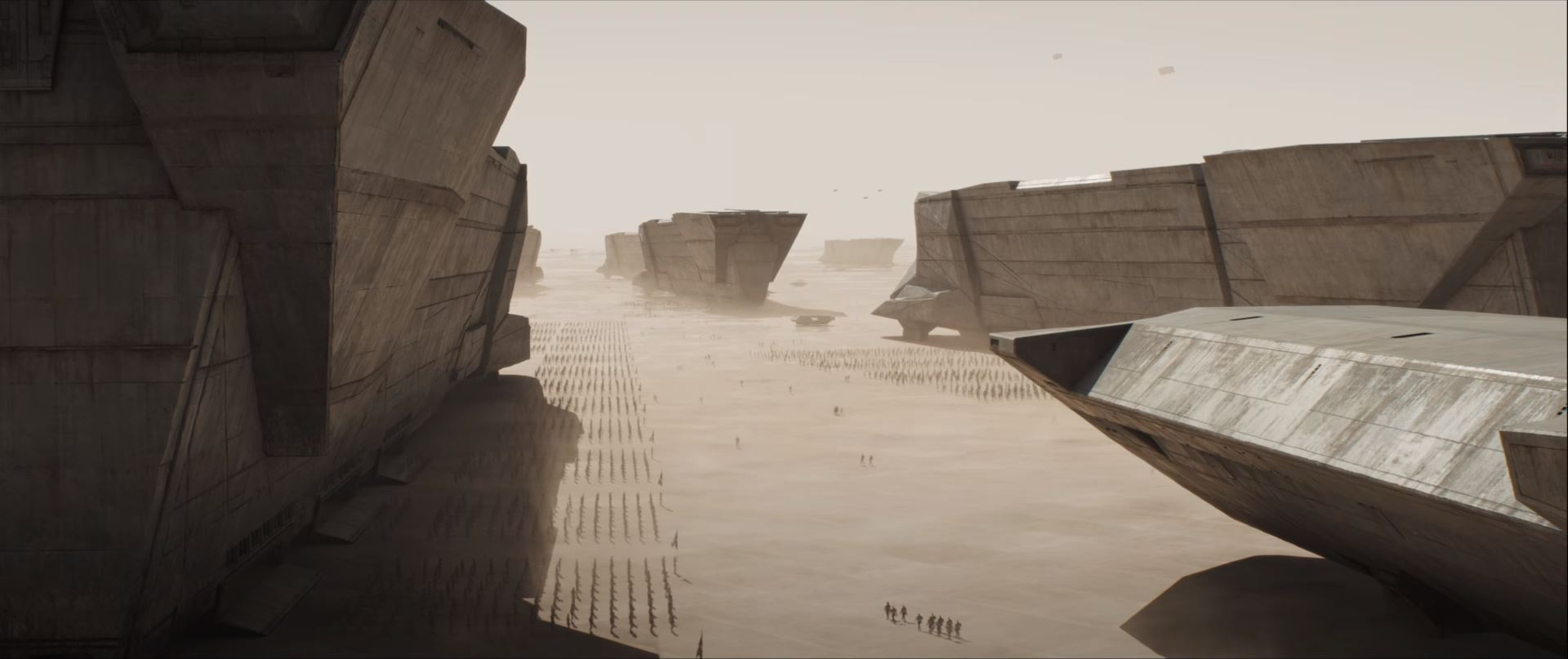 Dune movie trailer House Atreides landing on Arrakis