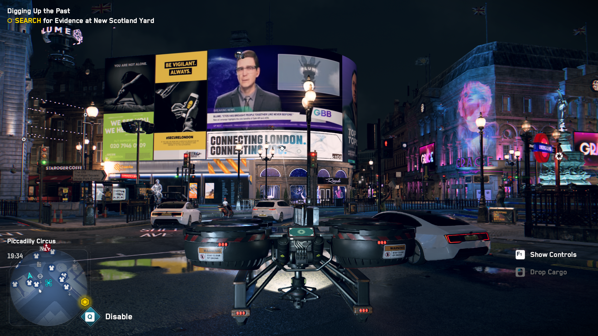 Watch Dogs Legion Piccadilly Circus