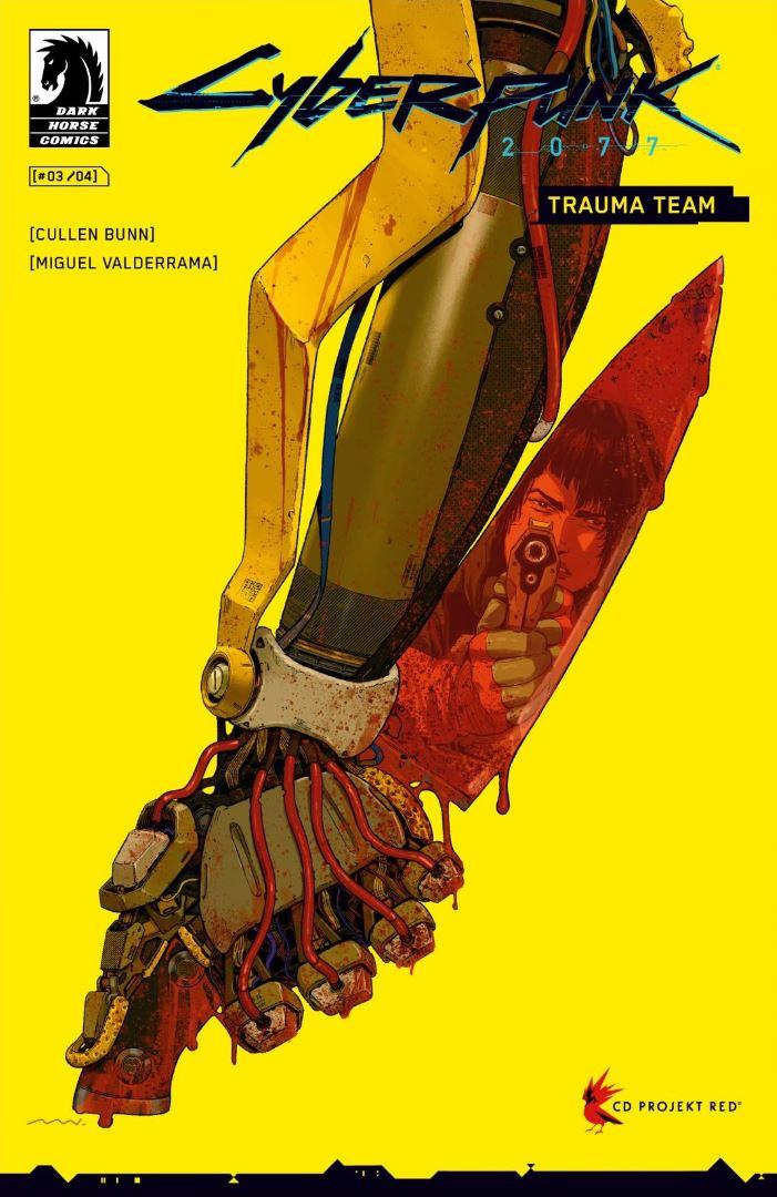 Cyberpunk 2077 Trauma Team #3 cover Cullen Bunn Miguel Valderrama