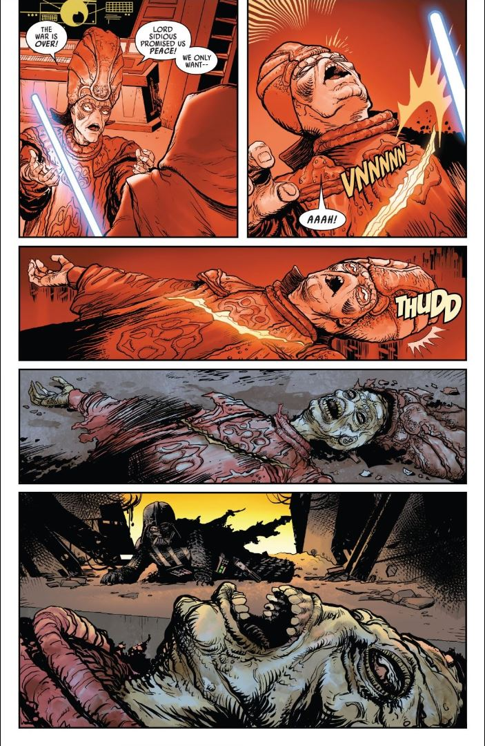 Darth Vader issue #7 corpse of Nute Gunray